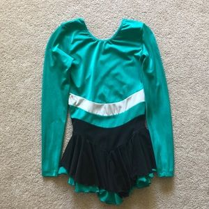 Jerry's teal figure skating dress